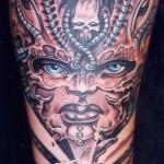 Biomechanical tattoo woman (7)