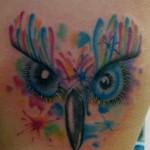 tatouage femme hibou