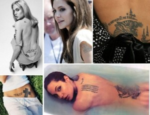 Tatouage de Angelina Jolie