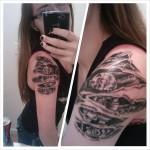tatouage femme biomécanique bras