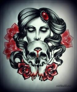 tatouage femme sinistre