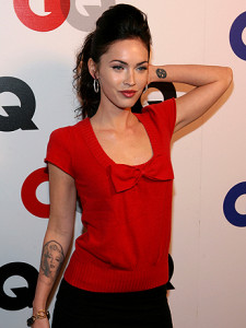 Tatouage de Megan Fox