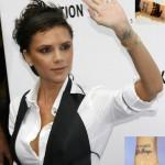 tatouage femme poignet victoria beckham