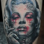 tatouage marilyn monroe macabre