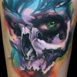 tatouage visage sinistre