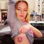 Tatouage de Scarlett Johansson