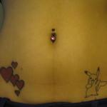 tatouage femme ventre coeur