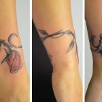 tatouage femme cheville prenom