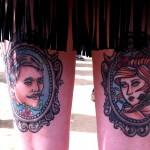 tatouage femme cuisse arriere