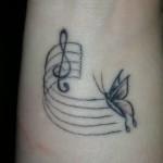 tatouage femme poignet papillon